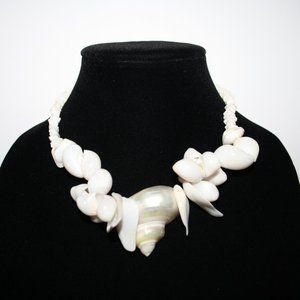 "Beautiful white shell necklace 15"""